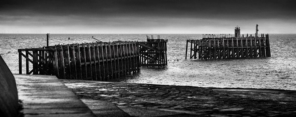 The remains of Heysham pier