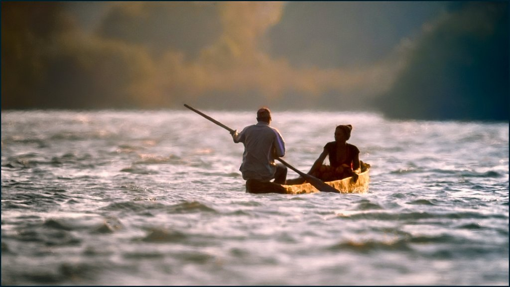 Evening on the Zambeze river