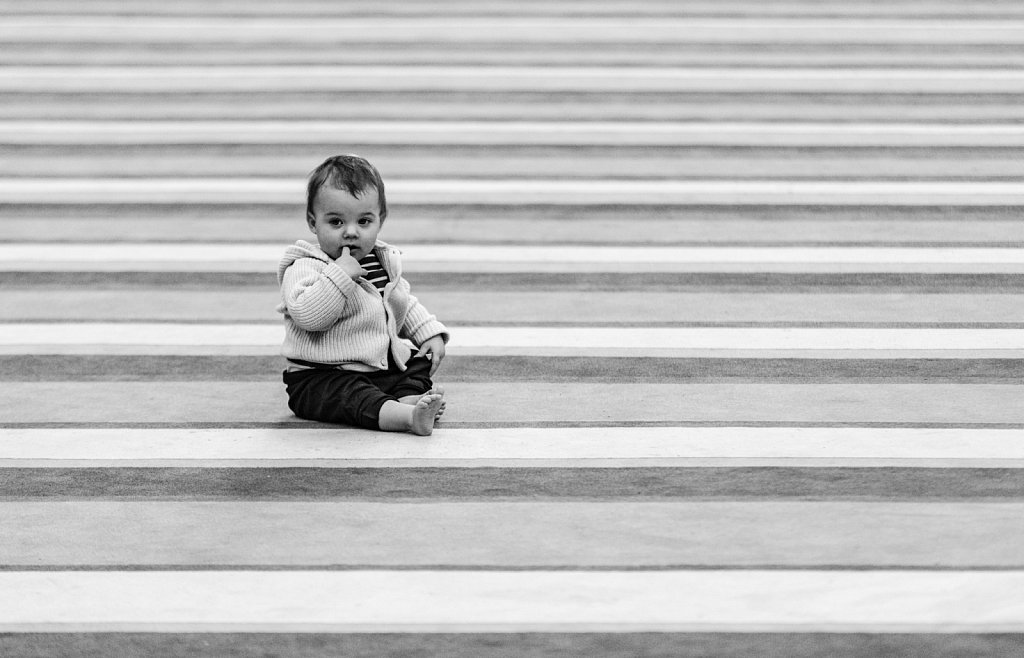 Child on abstract