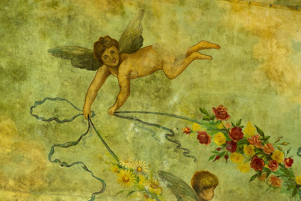 Cherub above the proscenium arch