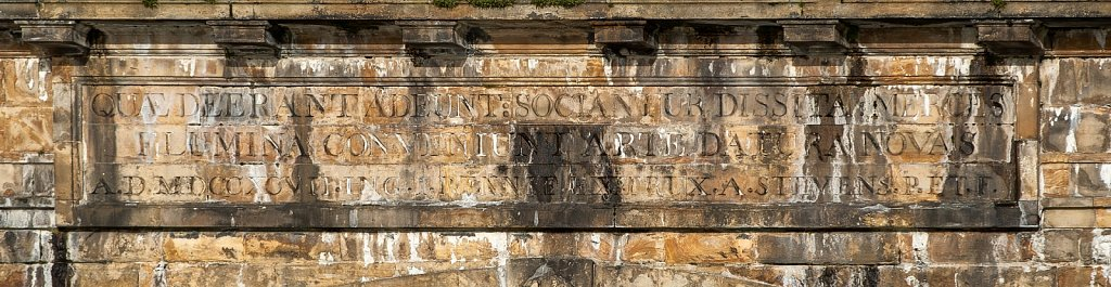 Lune aqueduct inscription